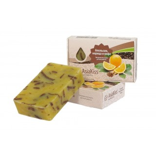 AsiaKiss натуральное мыло с апельсином, корицей и кофе