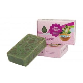 AsiaKiss Натуральное мыло с лопухом и лечебной грязью