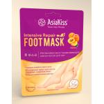 AsiaKiss Маска-Носки АБРИКОС Интенсивно-Восстанавливающая для ног
