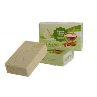 AsiaKiss Натуральное мыло c миндалем и белой глиной
