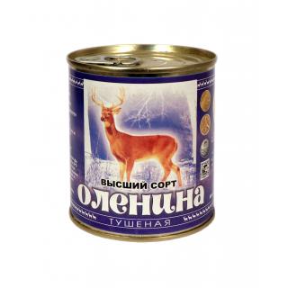Оленина тушеная. Высший сорт. Ялуторовский мясокомбинат. ГОСТ. Вес 290 гр.