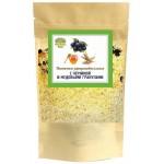 Пшеничные зародышевые хлопья с черникой и медовыми гранулами.